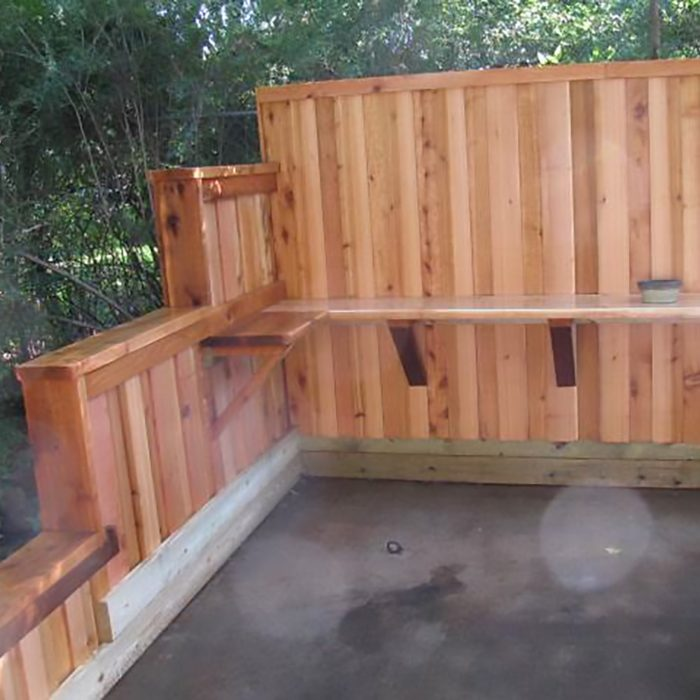 Gardening work area built for client in Forest Hills.